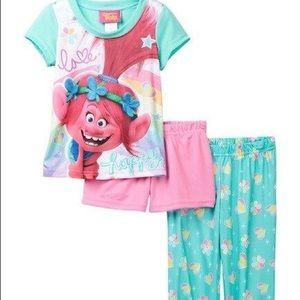 AME Trolls Poppy Love Happy 3-pc Pajama Set